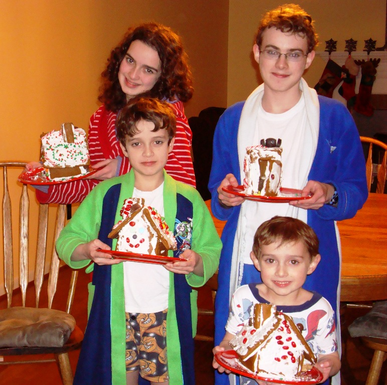 The Kids and their Gingerbread Houses