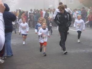 Zeke Running with Josiah