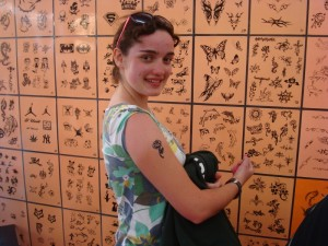 The Girl with the Flower Tatoo